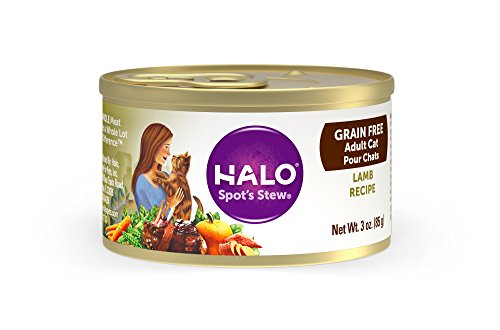 (Halo Grain Free Natural Wet Cat Food, Lamb Recipe, 3-Ounce Can (Pack Of)