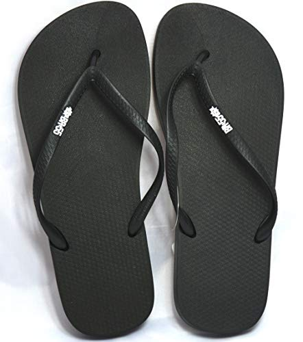 BR55 Black Men (12) Made in Brazil. Soft and durable rubber material. Classical comfortable flip-flops. ()