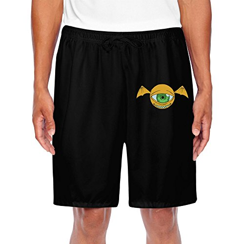 HNN Men's One Eye Bat Monster Shorts Sweatpants (Leonardo Monster Truck)