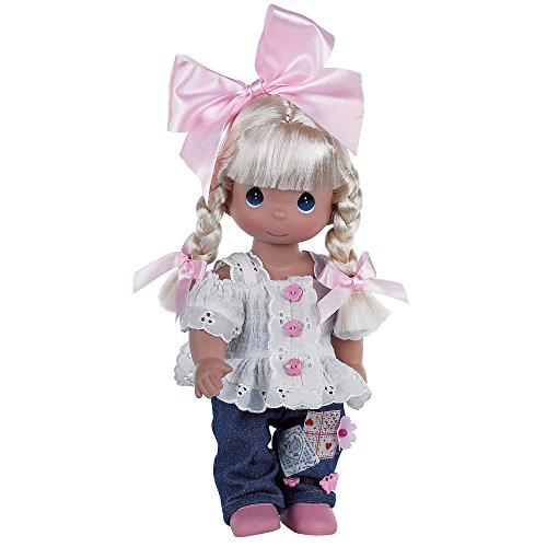 (The Doll Maker Precious Moments Dolls, Linda Rick, Cute as a Button, 12 inch Doll)