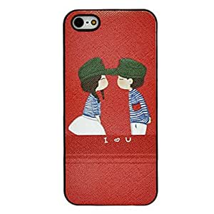 Kissing Lovers Pattern Hard Case for iPhone 5/5S