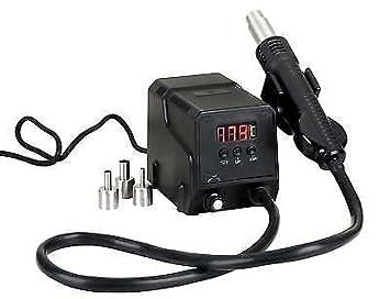 Estación de soldadura y desoldadura ZD-8908 de aire caliente para SMD + 3 boquillas: Amazon.es: Bricolaje y herramientas