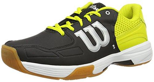 Wilson WRS322340E095, Zapatillas de Tenis Unisex Adulto, Negro (Black / Sulphur Spring / White), 44 EU