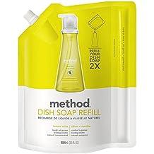 Method Gel Dish Pump Refill 36oz, Lemon Mint (Pack of 2)