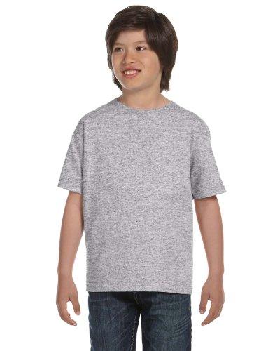 Gildan Dryblend Youth T-Shirt, Sport Grey, Medium (T-shirt Youth Grey)