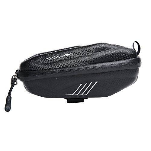 Wantdo Bicycle Saddle Bag with Highly Sealed Zipper for Repair Tools,Waterproof Bike Bag with Reflective Logo Outdoor Accessories Pocket Cycling Pack by Wantdo