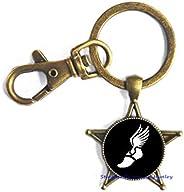 Track and Field Jewelry Keychain,Runner Keychain-Sports Keychain-Athlete Keychain,Wedding Jewelry Glass jewelr