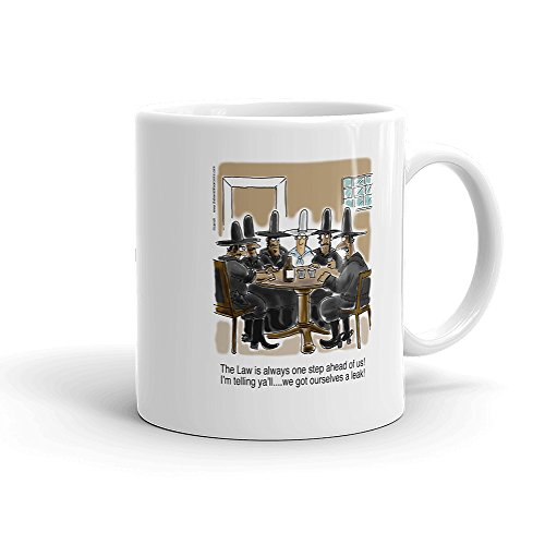 (Western Outlaws Coffee Mug - 13th Floor Comic -11oz. White - perfect for you old west)
