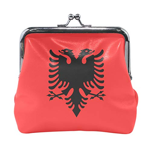 Ethel Ernest Flag Of Albania Coin Wallets Mini Purse for Womens Girls Ladies