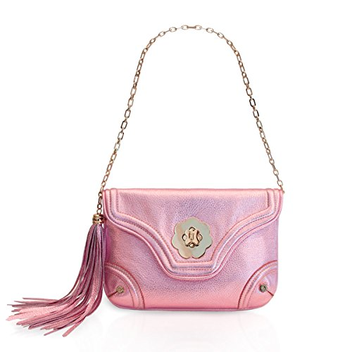 Eric Javits Luxury Fashion Designer Women's Handbag - Mini Clutch - Rose by Eric Javits