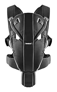 BABYBJORN Baby Carrier Miracle - Black/Silver, Cotton Mix