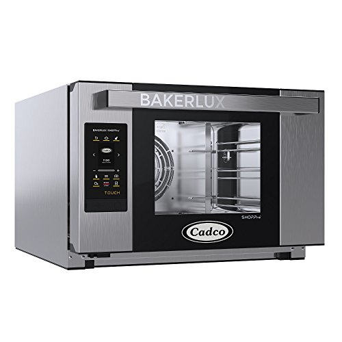 Cadco XAFT-03HS-TD Bakerlux TOUCH Heavy-Duty Electric Countertop Convection Oven, (3) Half Size Sheet Pan Capacity