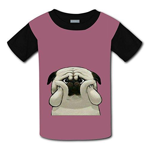Yangjio Tshirt Unhappy Pug Costume M Short Sleeve For Youth ()