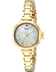 kate spade new york Womens Park Row Quartz Stainless Steel Casual Watch, Color:Gold-Toned (Model: KSW1361)