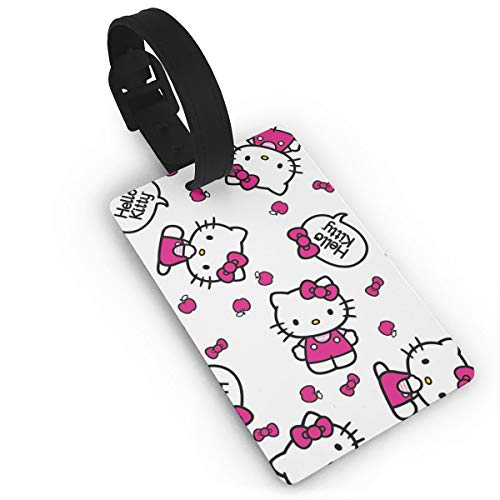 SWDFFG Luggage ID Tags- Stylish Cute Hello Kitty Print PVC Suitcase Bag  Labels Travel Accessory 5514d89388938