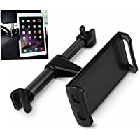 Headrest Tablet / Phone Car Mount,DHYSTAR Car Seat Tablet Holder Rear Pillow Stand for Cell phones/Tablets(4-11), ipad/Samsung Galaxy Tab/Amazon Kindle Fire HD/Nintendo Switch etc-Black
