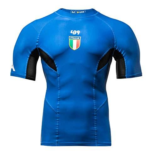 LB9 Official Italia Rahguard Maglia Maniche Corte con Protezione UPV Perfetta per Canoa Kayak Surf Mare