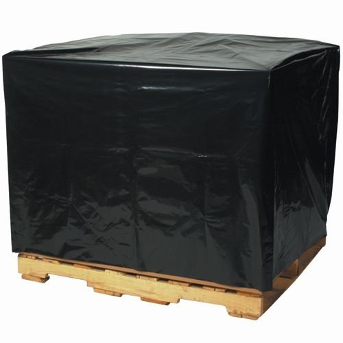 Aviditi PC548 Perforated Pallet Cover, 49'' Length x 51'' Width x 73'' Height, 2 mil Thick, Black (Case of 50) by Aviditi (Image #1)