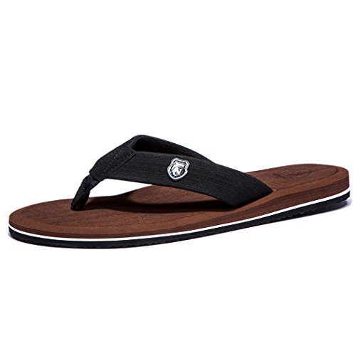 NeedBo NDB Men's Classical Comfortable Flip-Flop II (9 D(M) US/43 M EU, Brown)