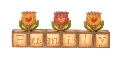 (Pavilion Gift Company Country Soul 29026 Block Plaque, Family, 7-1/2-Inch)