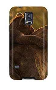 High Impact Dirt/shock Proof Case Cover For Galaxy S5 (artistic Lion Hug )