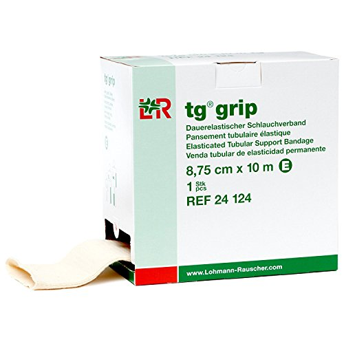tg grip Elasticated Tubular Support Bandage, Size E, 3-2/5 x 11 yds. (Large Arm and Leg, Slim Thigh) [Box of 1] by LOHMANN & RAUSCHER, INC.