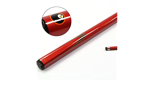 Mojo rojo 2 pc de grafito de carbono billar - 9 mm punta: Amazon ...