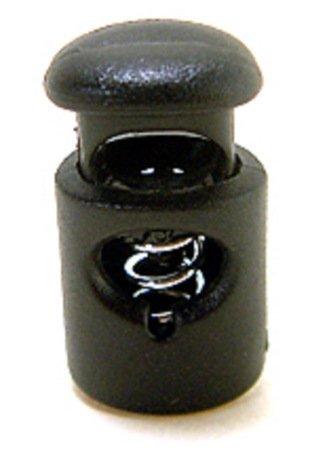 FMS Ravenox Toggle Stopper Cord Locks | Mini Cord Lock | Spring Stop Toggle Stoppers (25 Pack)(Black) by FMS (Image #2)