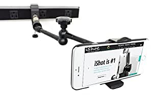 ishot gp5500c xt iphone smartphone c clamp tripod mic wheelchair mount and stand. Black Bedroom Furniture Sets. Home Design Ideas