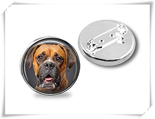 - memory Your Boxer Dog's Photo on a Brooch,Dome Glass Ornaments, Silver Broochs, Romantic Gifts