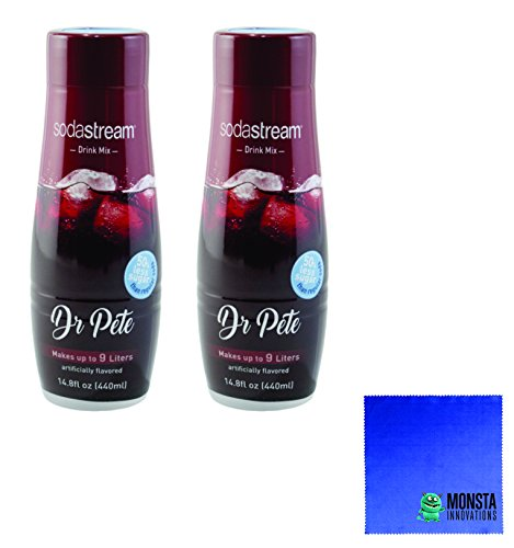 (SodaStream 14.8 fl Ounce Dr Pete Syrup- Twin Pack Value Bundle)
