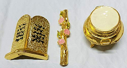 Bethlehem Gifts TM Ark of The Covenant - Contents - Aaron Rod/Manna Vessel & Tablets (0.8 Inches)