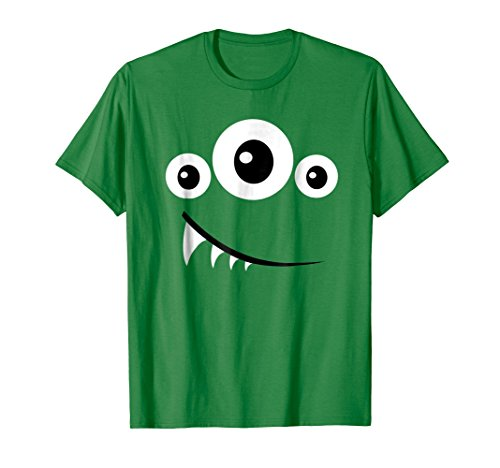Mens Funny Scary Monster Costume Halloween Shirt Gift Idea XL Kelly Green