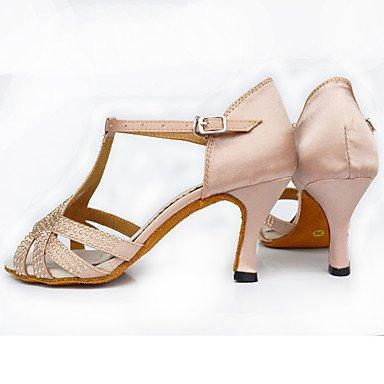 baile pink Tacón Personalizables de Carrete Negro Latino Zapatos 5xUXw00