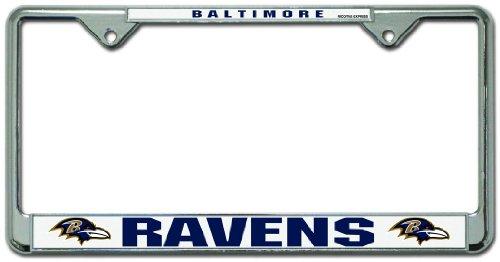Caseys Distribution 9474652218 Baltimore Ravens Chrome License Plate Frame
