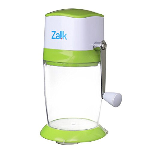 Zalik Ice Crusher Manual Hand Crank Ice Grinder For Fine Or Coarse Pieces - Strongest Heaviest Duty With Large 50 OZ Bucket - 430 Stainless Steel Blade - Essential Kitchen Tool - Bar Accessory by Zalik (Image #5)