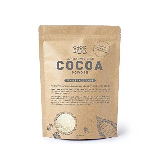 Chocolate Milk Cocoa Powder (ChocZero's Lightly Sweetened Cocoa Powder. White Chocolate Original. Sugar free, Low Carb. All Natural, Non-GMO. Best Keto Drink)