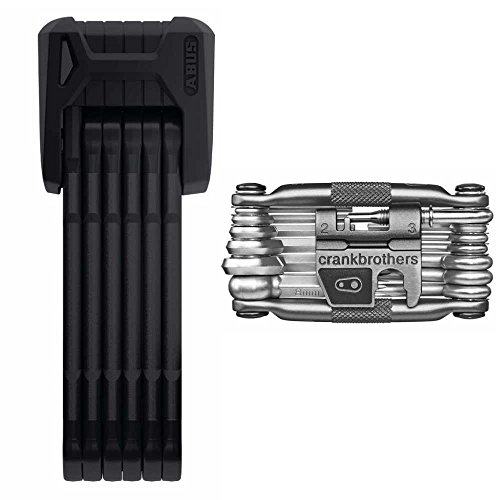 Lock Crank (Abus Bordo Granit X Plus 6500/85cm (33.46 in) Folding Bike Lock and Crank Brothers M19 Multi Bicycle Tool Kit)
