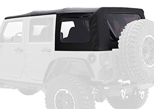 Smittybilt-9080235-Black-Diamond-Replacement-Top-with-Tinted-Side-Windows-for-Jeep-JK-4-Door