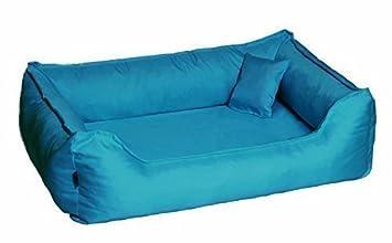 Cama para perro DONALD ORTO Vital Anti-pelo 100cm L azul azul turquesa Revestimiento de teflón con Colchón de confort: Amazon.es: Productos para mascotas