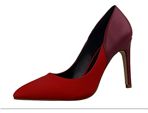 flake-rain-womens-stitching-color-pointy-shoes-high-heels-shoes35-m-eu-5-bm-us-red