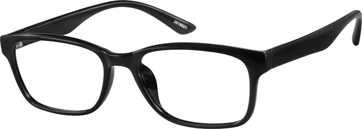 a582ba7297b Amazon.com  Zenni Optical Blokz Blue Light Blocking Computer Glasses  Rectangle Universal Bridge Fit Black Frame 2018921  Computers   Accessories
