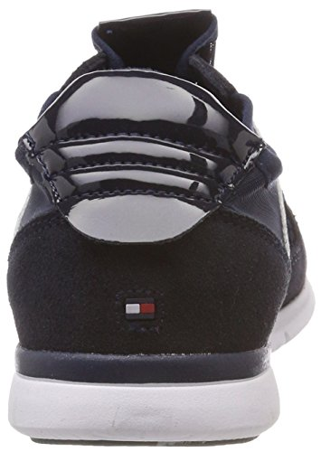 Blue Metallic Low Sneaker Tommy Weight Light midnight Women''s 403 top Hilfiger FqxFZY8E