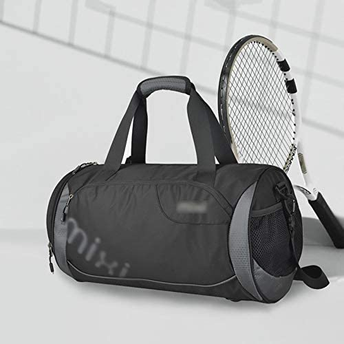 独立した靴と防水多機能ゴルフダッフルバッグ防水・軽量スポーツトレーニングジムバッグドライとウェットの分離 HMMSP (Color : Black, Size : 40×21×21cm)