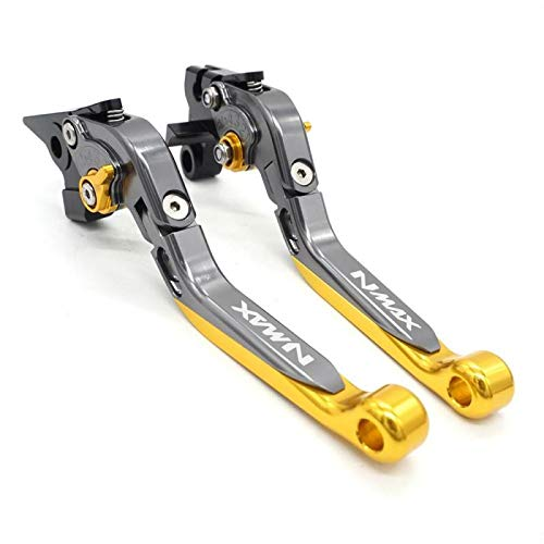 Gold Motorcycle Accessories Folding Extendable Brake Clutch Levers Handle For YAMAHA NMAX155 NMAX125 N-MAX 155 125 2015-2017