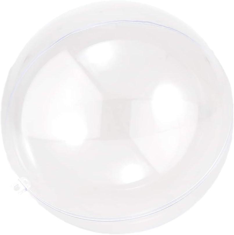 HomeDecTime Bola De Plástico Transparente Adorno para Rellenar Esfera Hueca Colgando Adornos De Navidad - 13.5cm