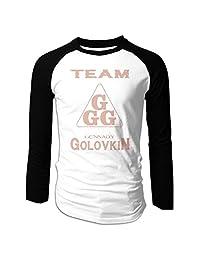Men's Long Sleeve Gennady Golovkin GGG Baseball Raglan Shirt Jersey