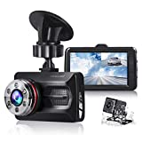 TOGUARD Dual Dash Cam Car Camera 1080P Front and 720P Rear View Backup Camera 170° Wide Angle...