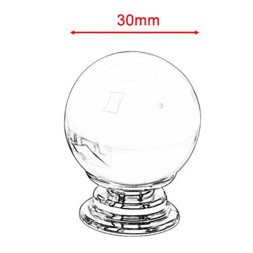 Revesun 6PCS//LOT Diameter 30mm Clear Crystal Glass Magic Ball Shaped Door Knobs Cabinet Pulls Cupboard Handles Drawer Knobs Wardrobe Home Hardware