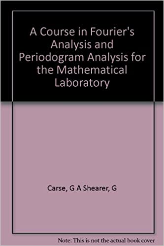 A Course in Fourier's Analysis and Periodogram Analysis for the